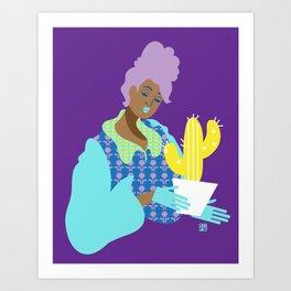 Cactus Caretaker Art Print