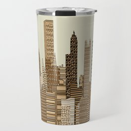 Pittsburgh skyline vintage Travel Mug