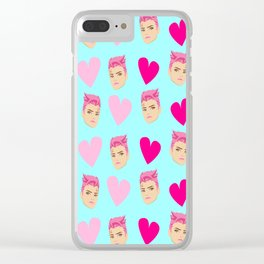 Zarya valentine blue Clear iPhone Case