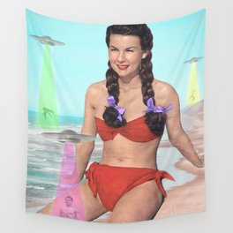 Abductions on the Beach Wall Tapestry