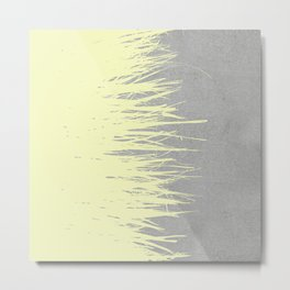Concrete Fringe Yellow Metal Print