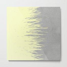 Concrete Fringe Yellow Metal Print