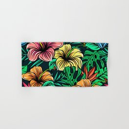 Tropical Floral Pattern Hand & Bath Towel