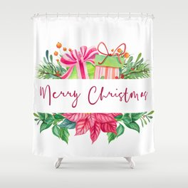 Merry Christmas Design Elements 1 Shower Curtain