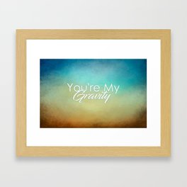 Gravity Framed Art Print