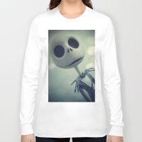 nightmare before christmas Long Sleeve T-shirts featuring Mr. Jack (Nightmare Before Christmas) by LT-Arts