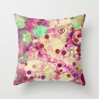 bubblegum Throw Pillows featuring Bubblegum by SensualPatterns
