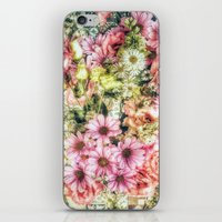 shabby chic iPhone & iPod Skins featuring Shabby Chic Floral by Joke Vermeer