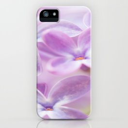 Lovely Lilac Blossom Bokeh Background #decor #society6 #buyart iPhone Case