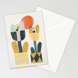 Two flowers Stationery Cards