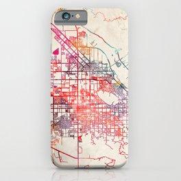 San Jacinto map California CA iPhone Case