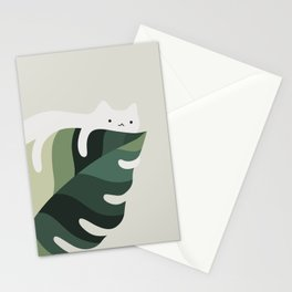 Cat and Plant 12C Stationery Cards