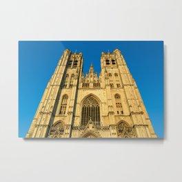 St Michael Cathedral Belgium Metal Print