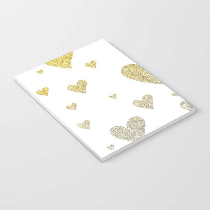 Glitter Hearts Notebook