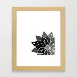 Gray flower Framed Art Print