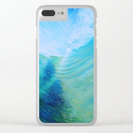 Endless Barrel, Big Wave Series Clear iPhone Case