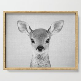 Baby Deer - Black & White Serving Tray
