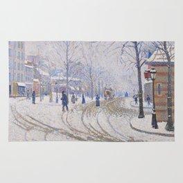 Snow, Boulevard de Clichy, Paris Rug