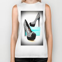 shoe Biker Tanks featuring Shoe Lust by 2sweet4words Designs
