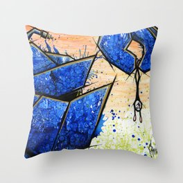Curious Robot Throw Pillow