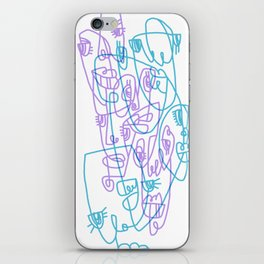 Abstract Faces JL8-20 iPhone Skin