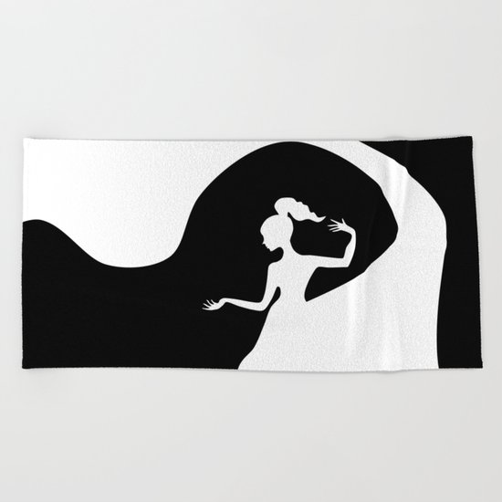 Beauty From Within BNW Beach Towel