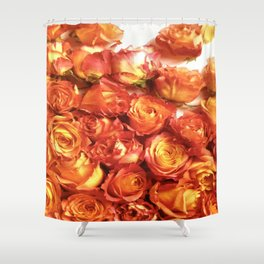Cluster Of Orange Roses Shower Curtain