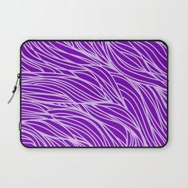 Violet Wave Lines Laptop Sleeve