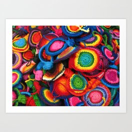 Rainbow colors crafts from Guatemala Art Print