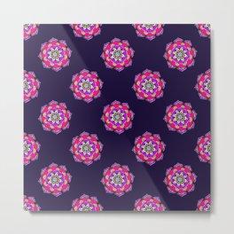 Mandala in Purple Metal Print
