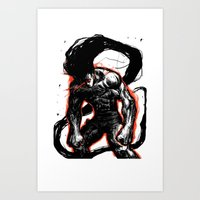 hunter x hunter Art Prints featuring Angry Gon Transformation Hunter X Hunter by Prince Of Darkness