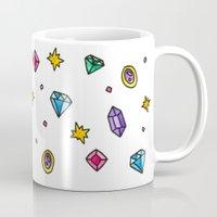 gem Mugs featuring Gem by Madi Moon