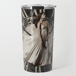 Roman-Inspired Fashion, Map, Time and Architectural Design Travel Mug