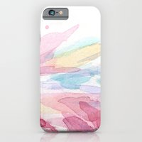 Pink Flamingo Soft Feathers Pastel Watercolor Texture Slim Case iPhone 6s