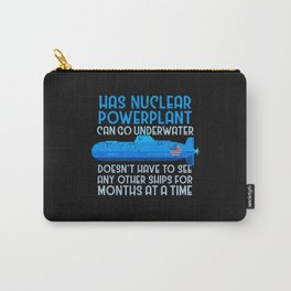 Military Submarine Veteran Gift US Submarine Power Plant Carry-All Pouch