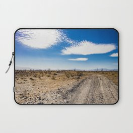 Lonely Dirt Road Cutting through the Barren Desert in the Anza Borrego Desert State Park Laptop Sleeve