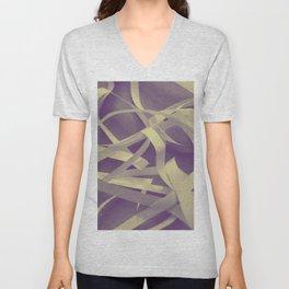 Purple paper Unisex V-Neck