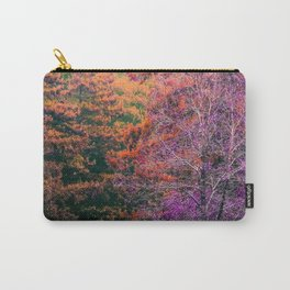 autumn tree in the forest with purple and brown leaf Carry-All Pouch
