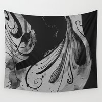 gemma Wall Tapestries featuring Ink II by Magdalena Hristova