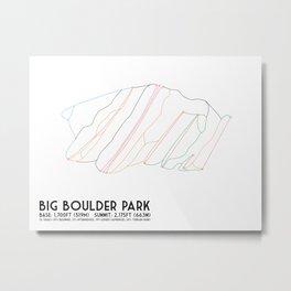 Big Boulder Park, PA - Minimalist Trail Maps Metal Print