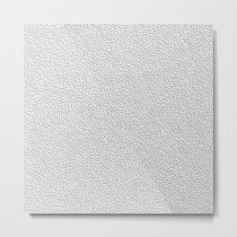 White grey stucco texture Metal Print