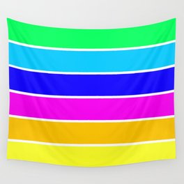 Bright Stripes Wall Tapestry