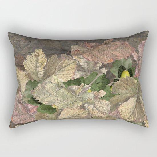 Acorns in Autumn Rectangular Pillow