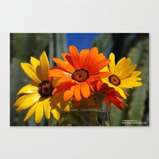 Sunny Day Wildflowers Canvas Print