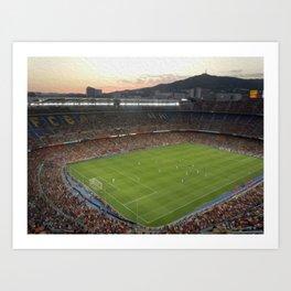 Camp Nou Art Print