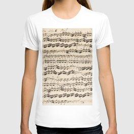 Johann Sebastian Bach (1685 – 1750) original music sheet T-shirt