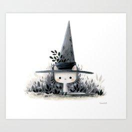 The wizard cat Art Print