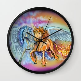Wind an Flame Wall Clock