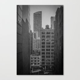 grimy nyc window... Canvas Print