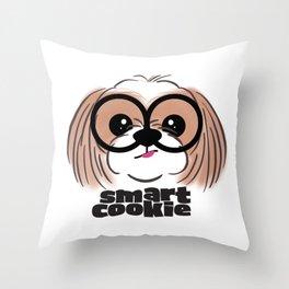Shih Tzu Smart Cookie Throw Pillow